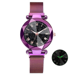 "Luxury ""Starry Sky"" Design Stainless Steel Watch For Women."