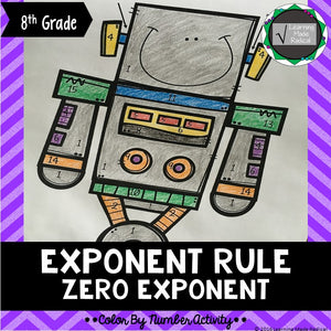 Zero Exponent Rule Color By Number Activity
