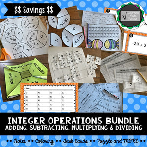 Integer Operations Bundle (Adding, Subtracting, Multiplying & Dividing)