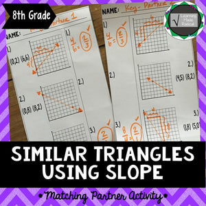 Similar Triangles Using Slope Matching Partner Activity