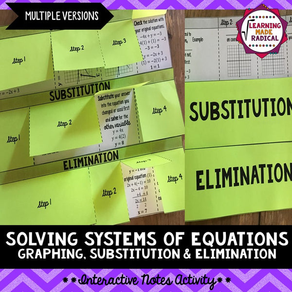 Systems of Equations Interactive Notes Activity