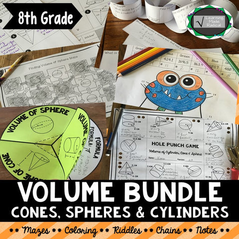 Volume Bundle (Cylinder, Cone & Sphere)