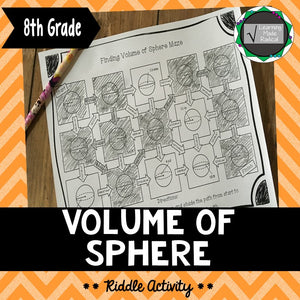 Volume of Sphere Maze Activity