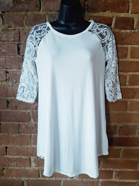 """Lace Me"" Top White"