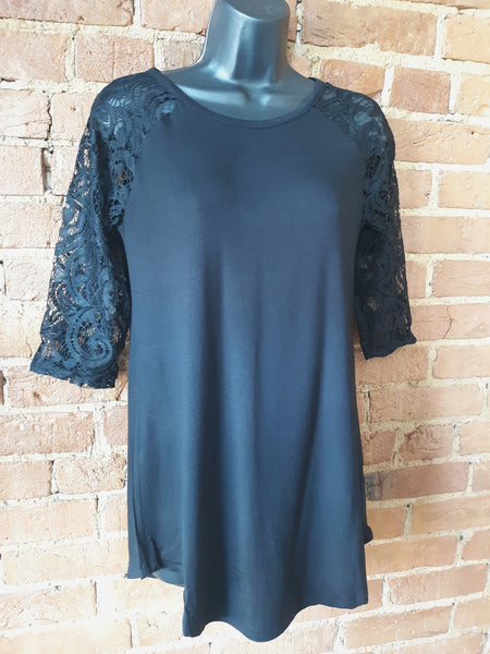 """Lace Me"" Top Black"
