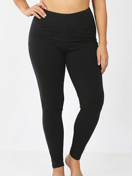 Cotton Leggings Black