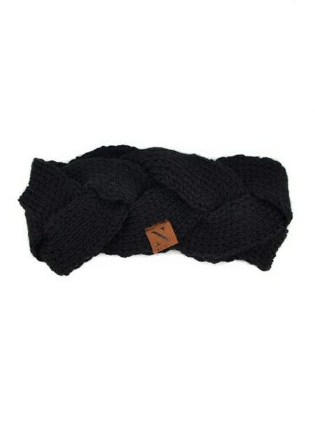"""Wrapped in you"" Head Band Blk"
