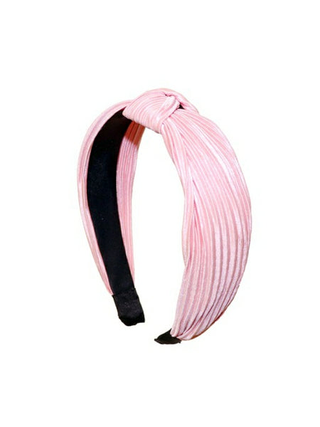 """Pretty in Pleats"" Headband Pink"