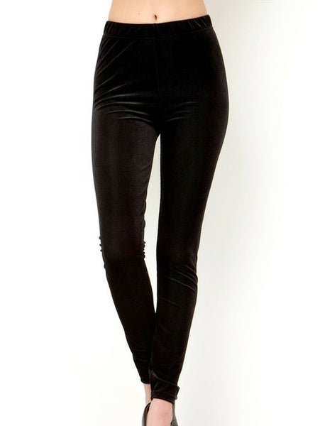 """Say Less"" Corduroy Leggings Black"