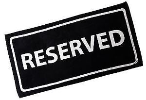 """Reserved""Beach Towel"