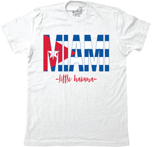 MIAMI-CUBAN FLAG - WHITE (MENS) - BH21
