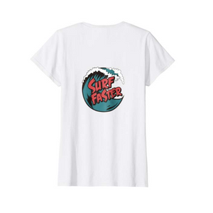 SULANG Travel The World Surf Faster Women's Lightweight Cotton T-Shirt - SULANG