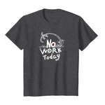 SULANG Travel The World No Work Today Youth Kids Lightweight Cotton T-Shirt - SULANG