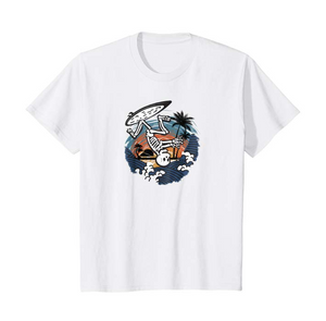 SULANG Travel The World Surfing By Soul Youth Kids Lightweight Cotton T-Shirt - SULANG