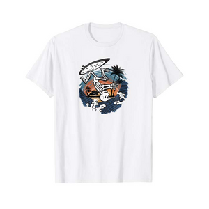 SULANG Travel The World Surfing By Soul Men's Lightweight Cotton T-Shirt - SULANG