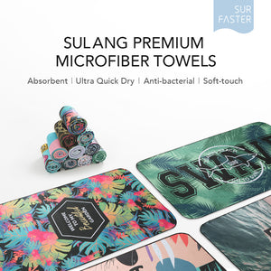SULANG Microfiber Quick Drying Beach Towel, Ocean Sunset - SULANG