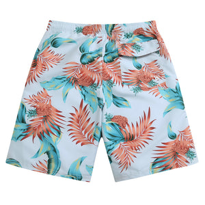 SULANG Men's Ultra Quick Dry Board Shorts No Mesh Lining, Tropical Leaves - SULANG