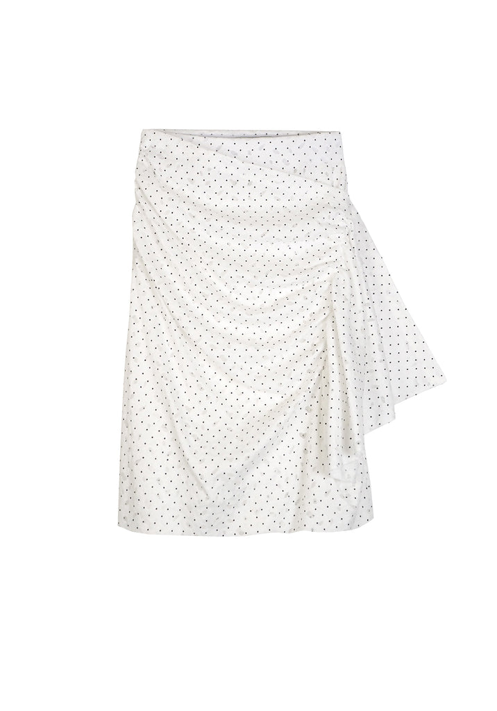 ABSTRACT DOT LACE SKIRT