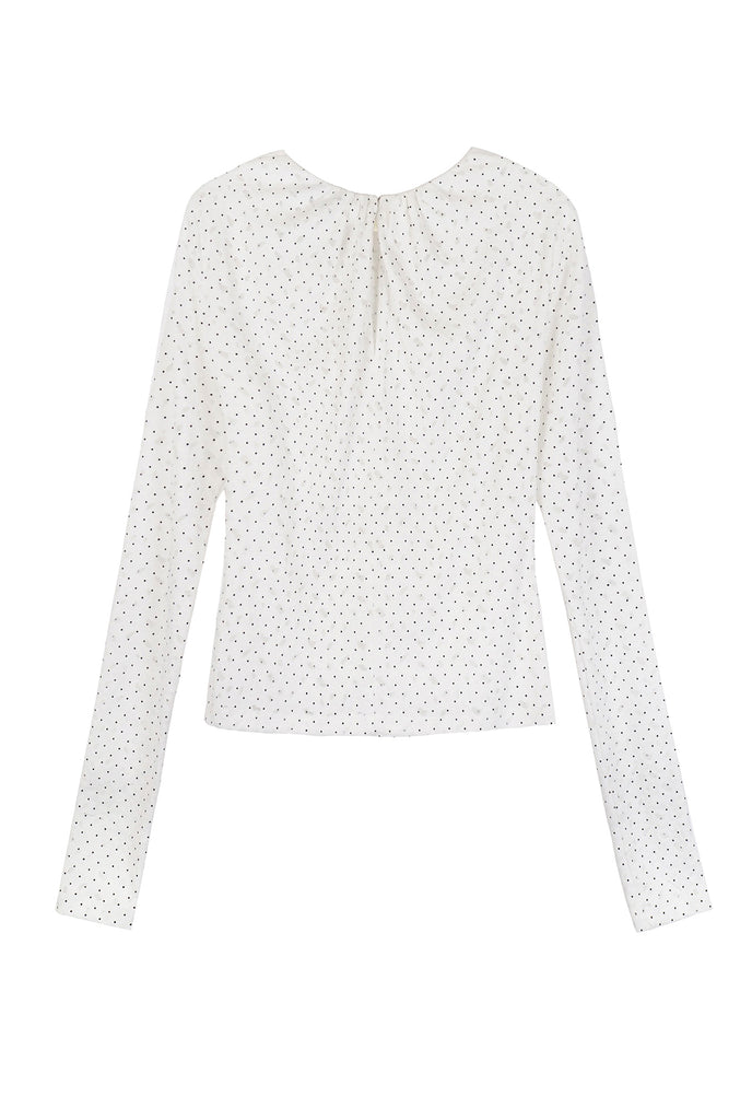 ABSTRACT DOT LACE TOP