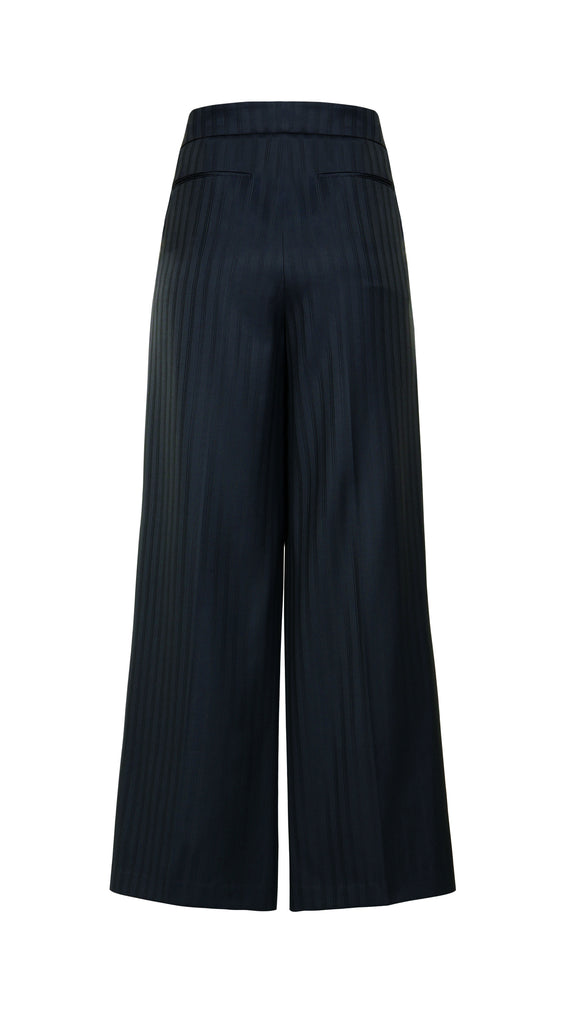 BANDOL STRIPED WOOL PLEATED PANT