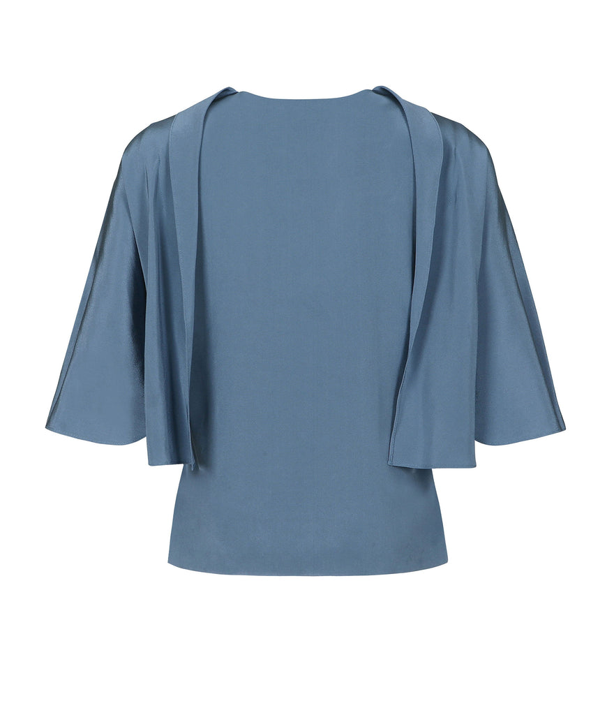 CAPE SILK BLOUSE