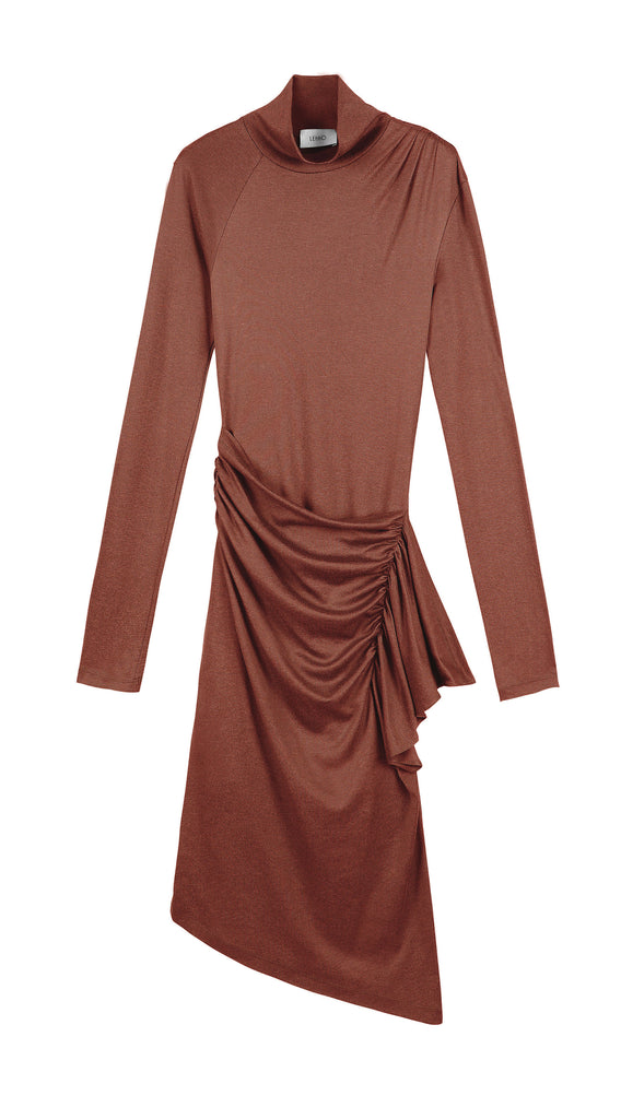 CRESSIDA SILK COTTON JERSEY DRESS