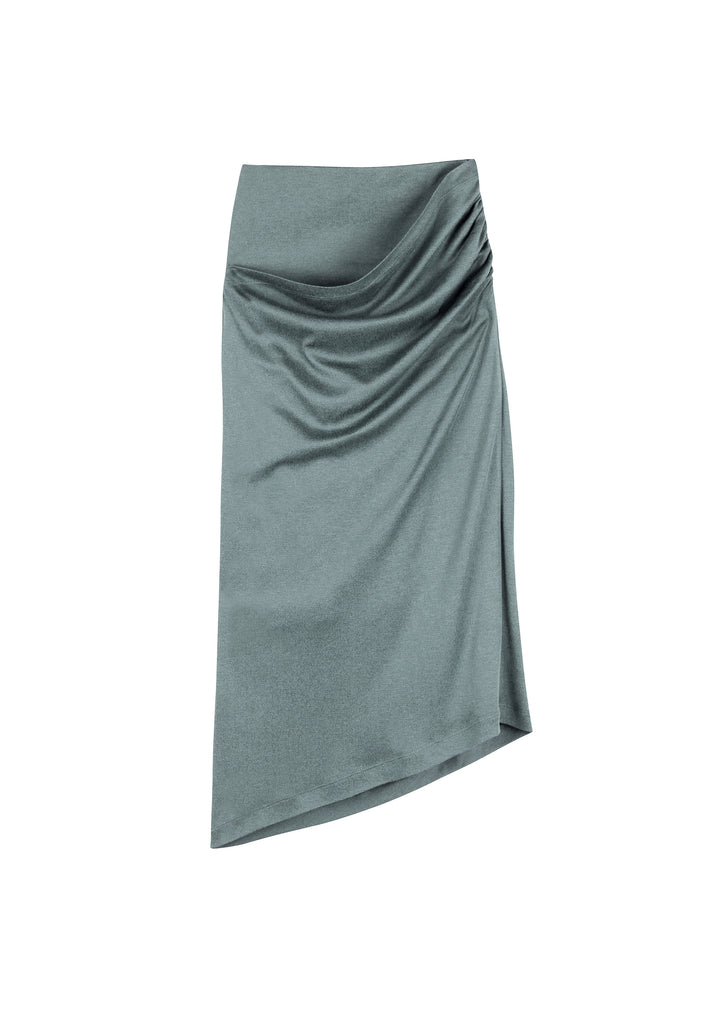 CRESSIDA SILK COTTON JERSEY SKIRT