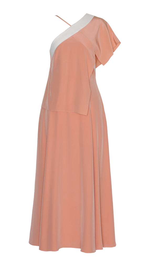 DAMASCO SILK OPEN BACK DRESS