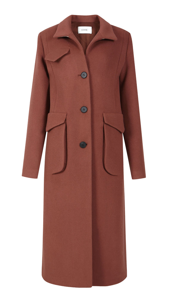 ECLIPSE POCKET WOOL CASHMERE COAT