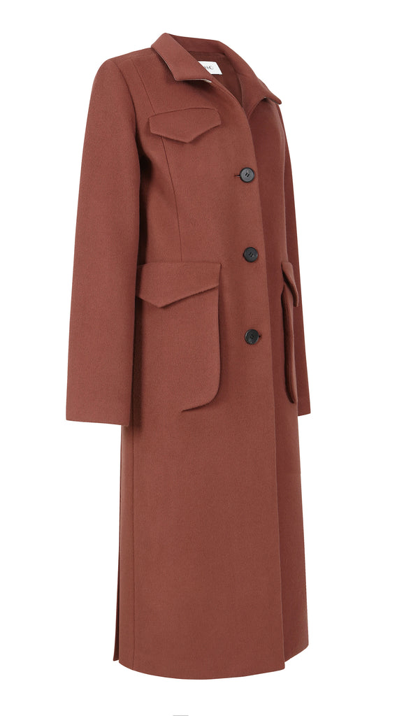 ECLIPSE POCKET CASHMERE WOOL COAT
