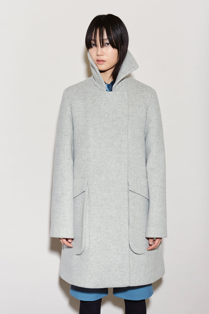 ECLIPSE POCKET DOUBLE FACE WOOL PEA COAT