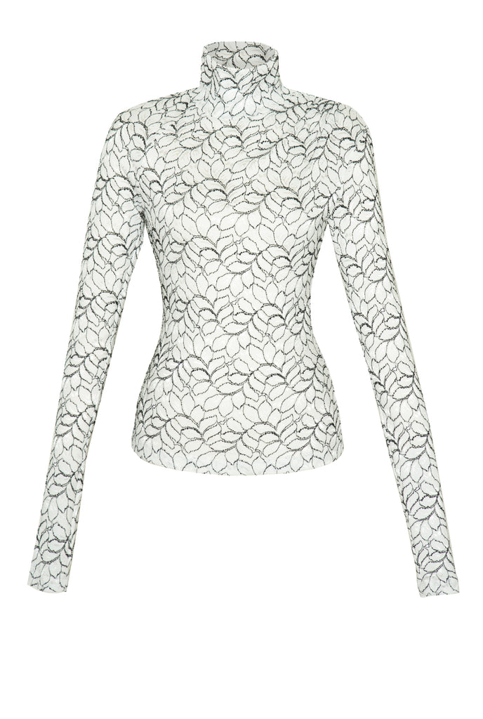 EUCALYPTUS LACE TURTLENECK