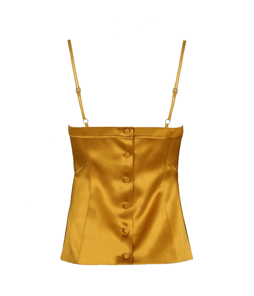 HELEN SILK SATIN CAMISOLE TOP