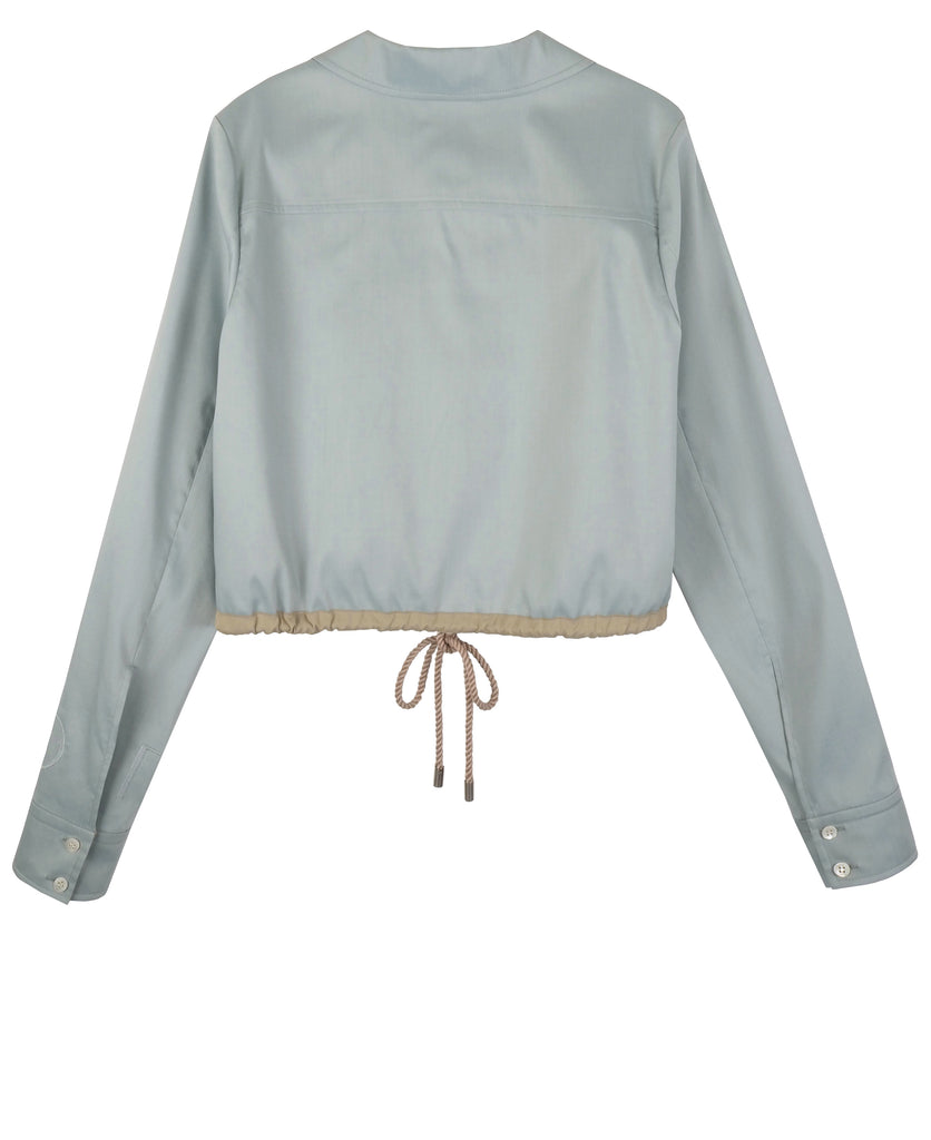 HYE DRAWSTRING CROPPED SHIRT
