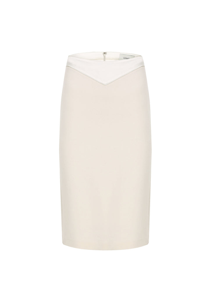 INES WOOL CREPE PENCIL SKIRT