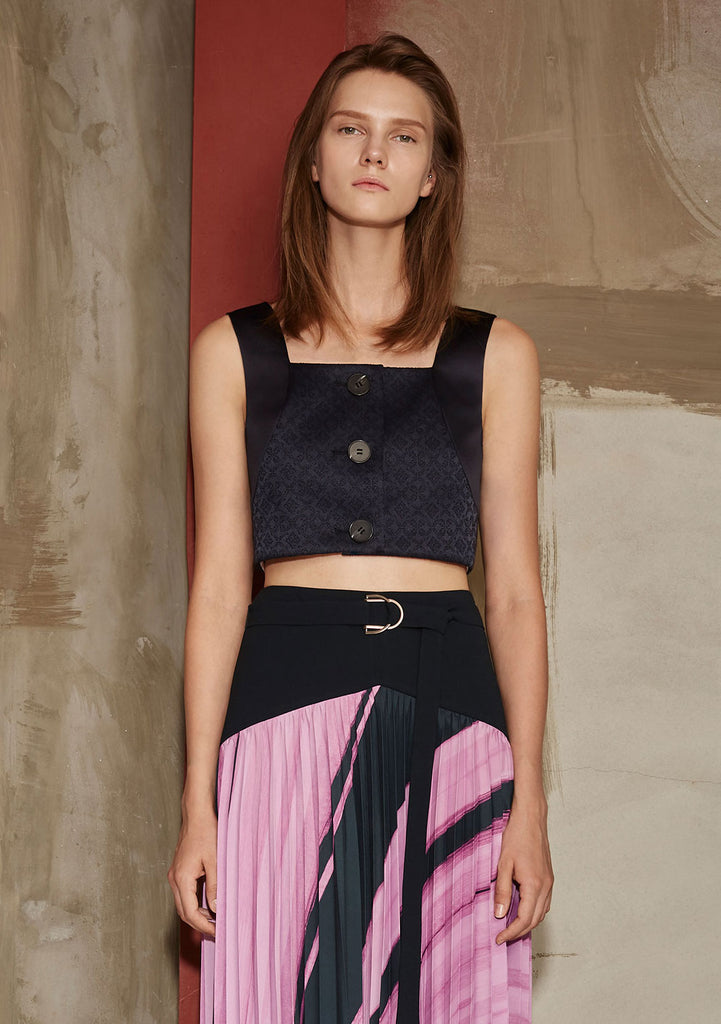 LITHOGRAPHY JACQUARD CROP TOP
