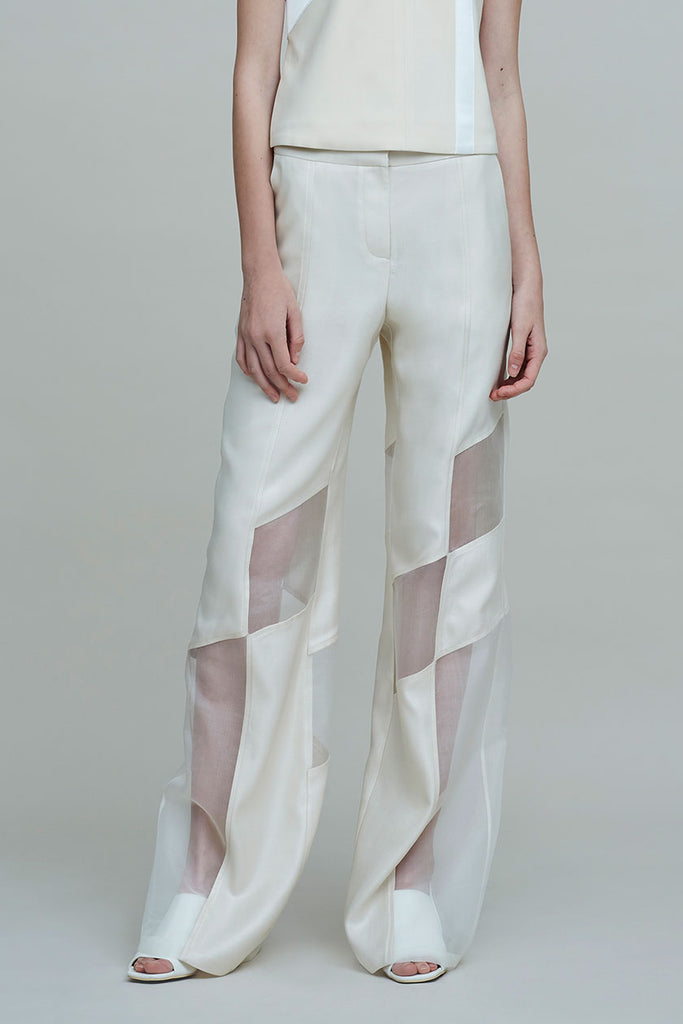 MOSAIC FRENCH SILK TWILL TROUSER