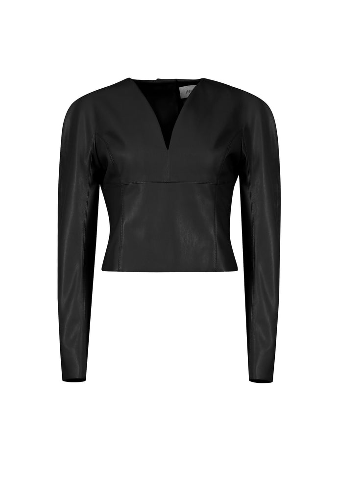 NEPTUNE VEGAN LEATHER TOP