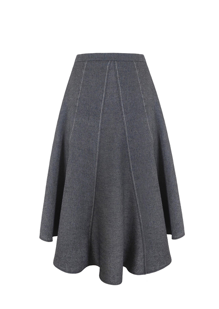 NEUL HERRINGBONE SKIRT