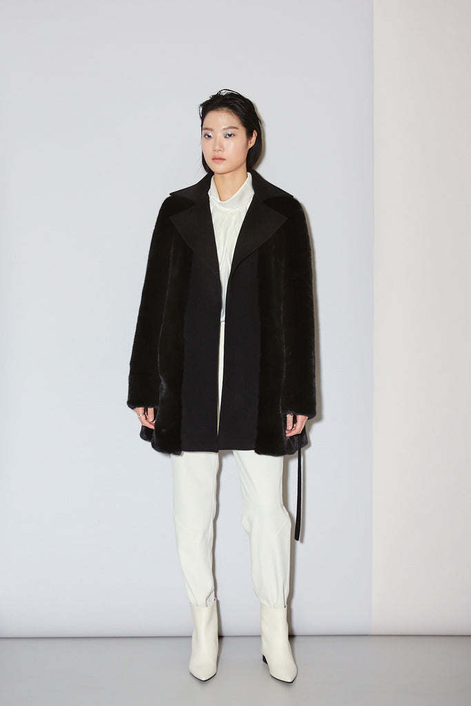 PIERRE ECO MINK COAT