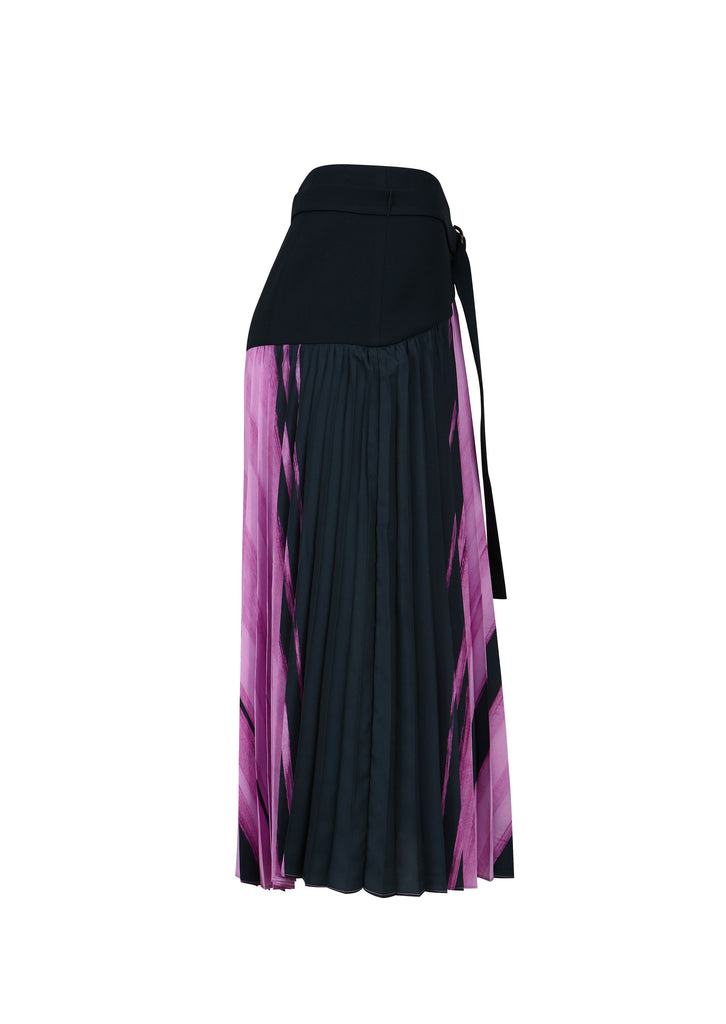 SOAK STAIN PAINT PLEATED SKIRT