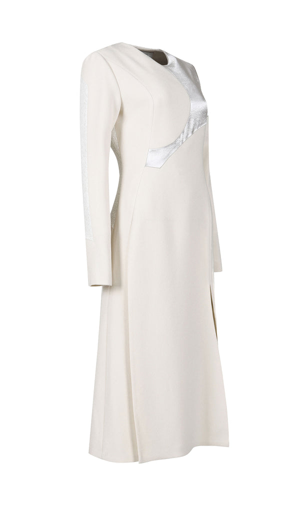 THE MUSE SAND CREPE DRESS