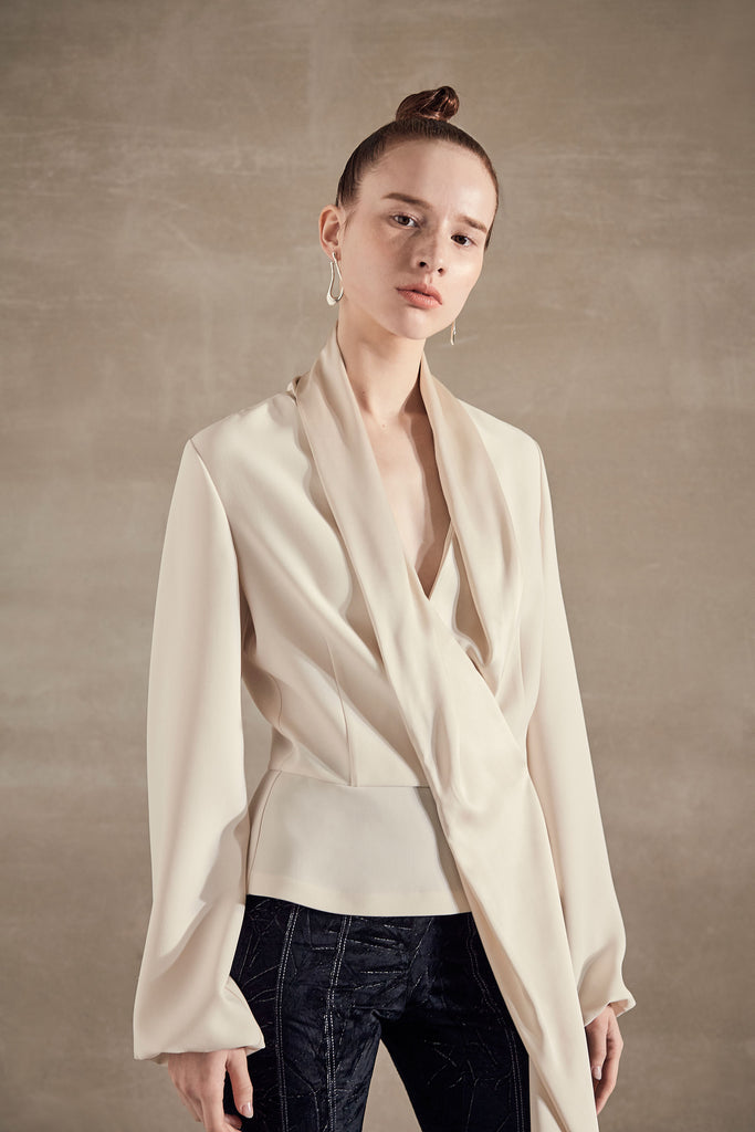VEGA FLUID CREPE SATIN BLOUSE