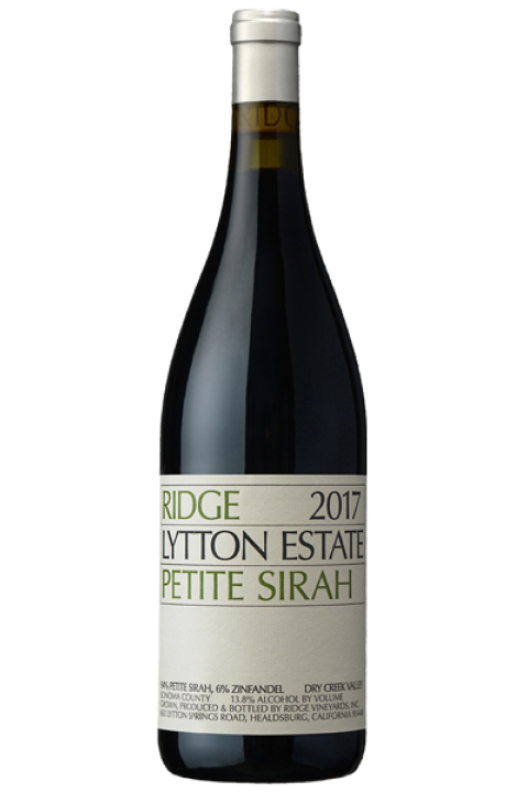 Ridge Lytton Estate Petite Sirah 2017 (750ml)