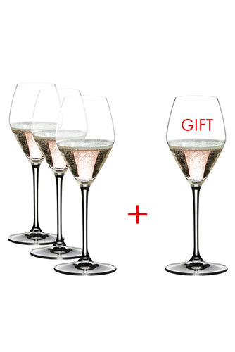 Riedel Extreme Rose/Champagne Wine Glassware (Pay 3 Get 4)