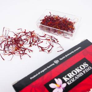 [Gift] Organic Greek red saffron + Wild Flora Honey