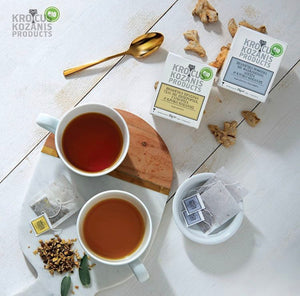 Organic Saffron Herbal Tea : Sage, Lemon Verbena & Greek Saffron (Caffeine-Free, Gluten-Free)