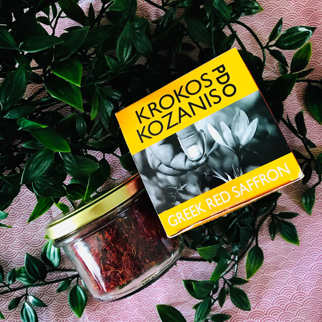Greek Red Saffron, 28g, Krokos Kozanis PDO
