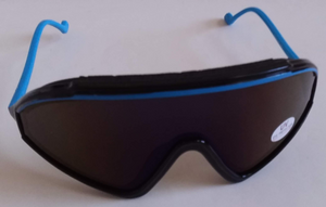 Vintage Blade frame ski sunglasses w/iridium lens tint & foam on upper frame