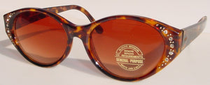 Vintage Lady's fashion sunglasses w/ decorative jewels